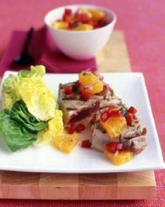 Tuna with Orange-Pepper Salsa - 400 Tasty Tuna Recipes - RecipePin.com