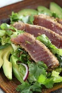 Sesame Seared Ahi - Tuna Salad - 400 Tasty Tuna Recipes - RecipePin.com