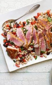 Seared Tuna with Italian White Bea - 400 Tasty Tuna Recipes - RecipePin.com