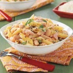 Penne with Tuna, Capers and Beans  - 140 Canned Tuna Recipes - RecipePin.com