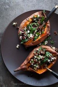 Baked Sweet Potatoes Stuffed with  - 165 Vegetarian Recipes - RecipePin.com