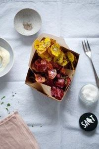beet chips with aioli on cannelle  - 165 Vegetarian Recipes - RecipePin.com
