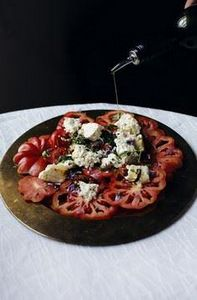 Grilled feta cheese and tomato - 165 Vegetarian Recipes - RecipePin.com