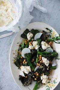 roasted broccoli, kale and chickpe - 165 Vegetarian Recipes - RecipePin.com