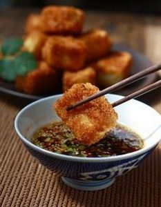 Fried Tofu with Sesame-Soy Dipping - 165 Vegetarian Recipes - RecipePin.com