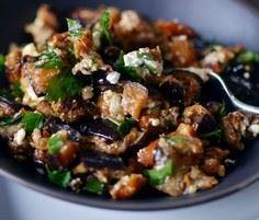 Roasted Eggplant Salad with Smoked - 165 Vegetarian Recipes - RecipePin.com