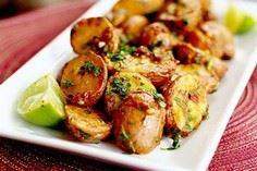 Chipotle and Lime Roasted Potatoes - 165 Vegetarian Recipes - RecipePin.com