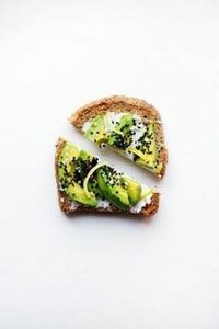 avocado toast with goat cheese, bl - 165 Vegetarian Recipes - RecipePin.com