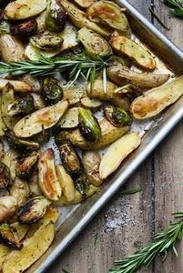 Roasted Fingerling Potatoes and Br - 385 Veggie Swaps Recipes - RecipePin.com