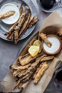 Baked Eggplant Fries with Goat Che - 385 Veggie Swaps Recipes - RecipePin.com