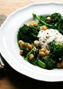 Broccoli Rabe with Chickpeas and R - 385 Veggie Swaps Recipes - RecipePin.com