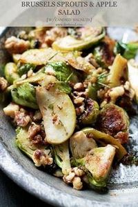 Brussels Sprouts Salad with Apples - 385 Veggie Swaps Recipes - RecipePin.com