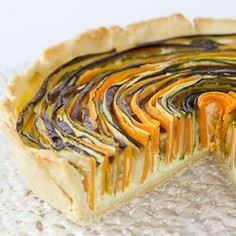 Spiralled Vegetable Tart with Mozz - 385 Veggie Swaps Recipes - RecipePin.com