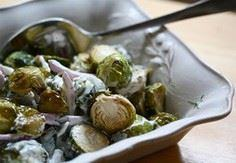 Roasted Brussels Sprouts with Gree - 385 Veggie Swaps Recipes - RecipePin.com