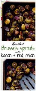 Roasted Brussels sprouts with baco - 285 Appetizing Wheat Belly Recipes - RecipePin.com