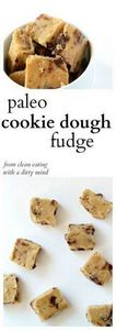 Paleo Cookie Dough Fudge -- finall - 285 Appetizing Wheat Belly Recipes - RecipePin.com