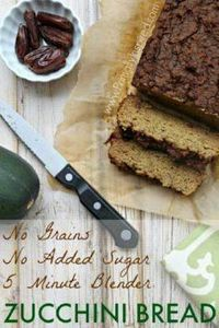5 Minute Zucchini Blender Bread fr - 285 Appetizing Wheat Belly Recipes - RecipePin.com