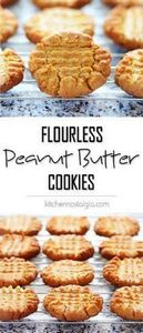 Easy Flourless Peanut Butter Cooki - 285 Appetizing Wheat Belly Recipes - RecipePin.com