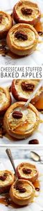 cheesecake stuffed baked apples! - 285 Appetizing Wheat Belly Recipes - RecipePin.com