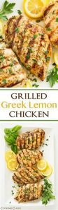 Grilled Greek Lemon Chicken - this - 285 Appetizing Wheat Belly Recipes - RecipePin.com