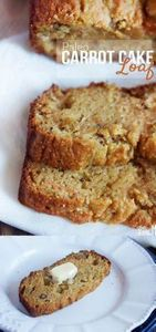 Paleo Carrot Cake Loaf - almond fl - 285 Appetizing Wheat Belly Recipes - RecipePin.com