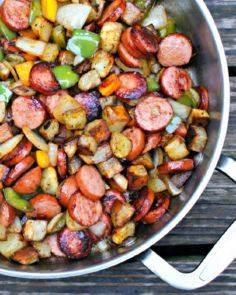 Kielbasa, Pepper, Onion and Potato - 285 Appetizing Wheat Belly Recipes - RecipePin.com