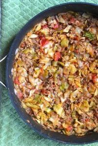 Amish One Pan Ground Beef and Cabb - 285 Appetizing Wheat Belly Recipes - RecipePin.com