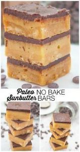 Paleo No Bake SunButter Bars- Thes - 285 Appetizing Wheat Belly Recipes - RecipePin.com
