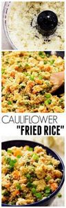 This Cauliflower Fried Rice looks  - 285 Appetizing Wheat Belly Recipes - RecipePin.com