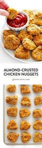 Almond-Crusted Chicken Nuggets --  - 285 Appetizing Wheat Belly Recipes - RecipePin.com
