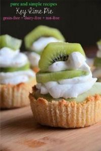 Key Lime Pie #paleo #dairyfree #nu - 285 Appetizing Wheat Belly Recipes - RecipePin.com