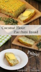 Coconut Flour Zucchini Bread recip - 285 Appetizing Wheat Belly Recipes - RecipePin.com