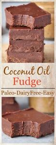Paleo Coconut Oil Fudge - 285 Appetizing Wheat Belly Recipes - RecipePin.com