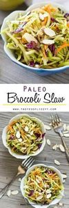 This crunchy Paleo Broccoli Slaw i - 285 Appetizing Wheat Belly Recipes - RecipePin.com