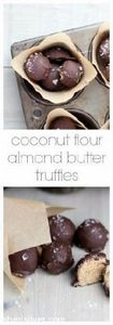 Coconut flour almond butter truffl - 285 Appetizing Wheat Belly Recipes - RecipePin.com