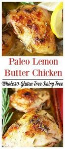 Paleo Lemon Butter Chicken- A deli - 285 Appetizing Wheat Belly Recipes - RecipePin.com