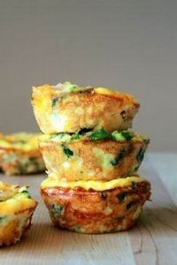 Mini Frittatas | 27 Make-Ahead Bre - 285 Appetizing Wheat Belly Recipes - RecipePin.com