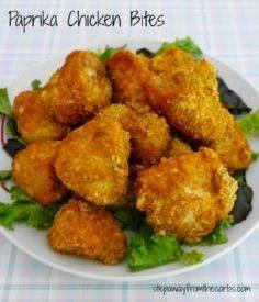 Paprika Chicken Bites - a low carb - 285 Appetizing Wheat Belly Recipes - RecipePin.com