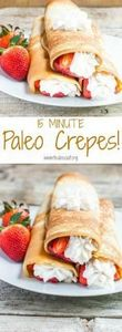So fast and easy, make Paleo crepe - 285 Appetizing Wheat Belly Recipes - RecipePin.com