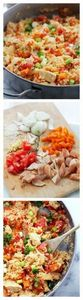 Chicken, Rice and Vegetable Skillet - 60 Wok Recipes - Popular Stir-Fry and Wok Recipes - RecipePin.com
