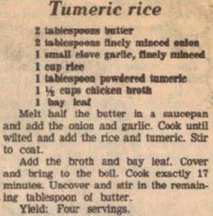Turmeric Rice....add thyme when ad - 60 Wok Recipes - Popular Stir-Fry and Wok Recipes - RecipePin.com