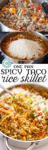 One pan taco rice skillet- this is - 60 Wok Recipes - Popular Stir-Fry and Wok Recipes - RecipePin.com