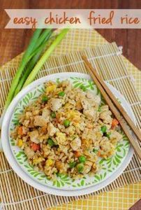 Easy Chicken Fried Rice is cheaper - 60 Wok Recipes - Popular Stir-Fry and Wok Recipes - RecipePin.com