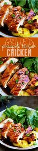 Grilled Pineapple Teriyaki Chicken - 60 Wok Recipes - Popular Stir-Fry and Wok Recipes - RecipePin.com