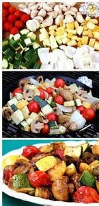 Easy Grilled Vegetables - 14 Best  - 60 Wok Recipes - Popular Stir-Fry and Wok Recipes - RecipePin.com