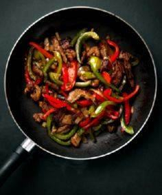 Pepper Steak With thin strips of s - 60 Wok Recipes - Popular Stir-Fry and Wok Recipes - RecipePin.com