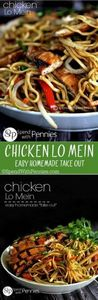 Chicken Lo Mein - It's easy to mak - 60 Wok Recipes - Popular Stir-Fry and Wok Recipes - RecipePin.com