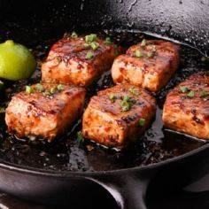 Salmon with Balsamic Thai Chile Gl - 60 Wok Recipes - Popular Stir-Fry and Wok Recipes - RecipePin.com