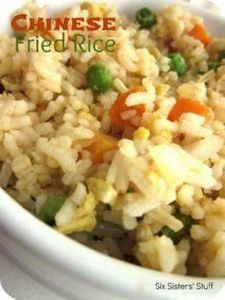Easy Chinese Fried Rice.  The perf - 60 Wok Recipes - Popular Stir-Fry and Wok Recipes - RecipePin.com
